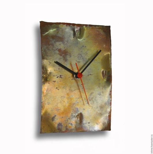 Часы для дома ручной работы. Ярмарка Мастеров - ручная работа. Купить Часы из меди. Handmade. Рыжий, настенные часы