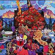 """Картины и панно ручной работы. Ярмарка Мастеров - ручная работа картина """"Глинтвейн"""" (красная серия). Handmade."""