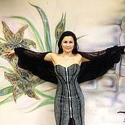 Одежда ручной работы. Ярмарка Мастеров - ручная работа Платье-бюстье из натурального шелка стрейч ,отделка натуральной кожей. Handmade.