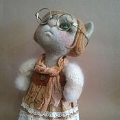 Куклы и игрушки ручной работы. Ярмарка Мастеров - ручная работа интерьерная кукла -кошка. Handmade.