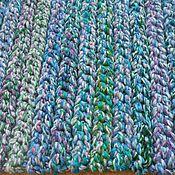 """Для дома и интерьера ручной работы. Ярмарка Мастеров - ручная работа коврик вязаный прямоугольный """"Ультрамарин"""". Handmade."""
