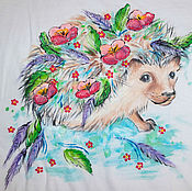 Одежда handmade. Livemaster - original item T-shirt with a painting