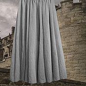 """Одежда ручной работы. Ярмарка Мастеров - ручная работа юбка длинная из натурального шелка """"Серебряная дымка"""". Handmade."""