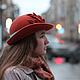 """Шляпы ручной работы. Шляпа """"Le rayon chaud de Saint-Petersbourg """" (Теплый луч Петербурга). Наталья Прокофьева (la-magie-spb). Ярмарка Мастеров."""