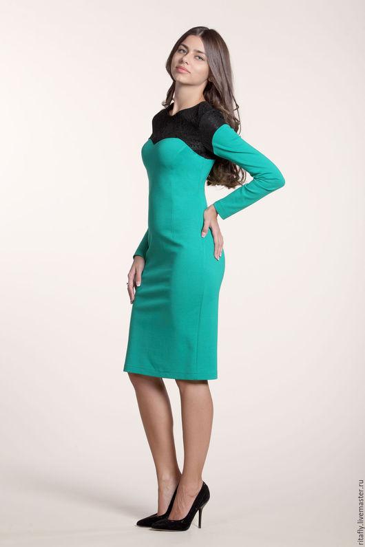коктейльное платье футляр с кружевом, платье футляр офисное
