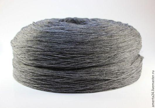 Вязание ручной работы. Ярмарка Мастеров - ручная работа. Купить Ровница (ангора), темно - серый меланж, вес 250 гр. Handmade.