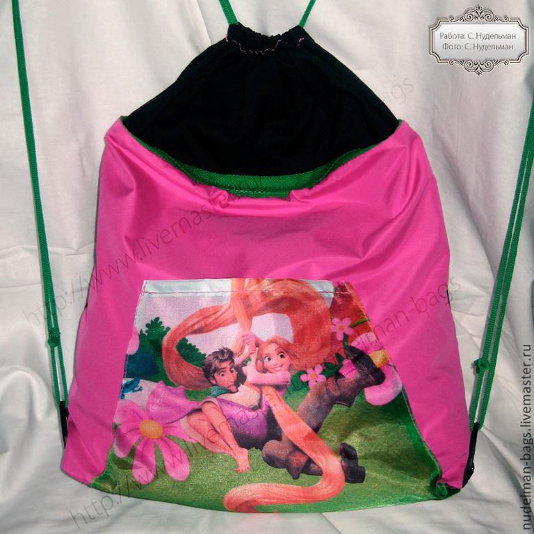 519e2cf265b8 Сумка рюкзак детский для девочки Рапунцель для танцев гимнастики бассейна  дополнительных занятий ...
