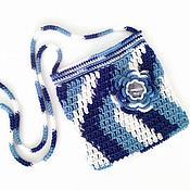Работы для детей, handmade. Livemaster - original item Handbag for girls knitted cotton dress Gzhel. Handmade.