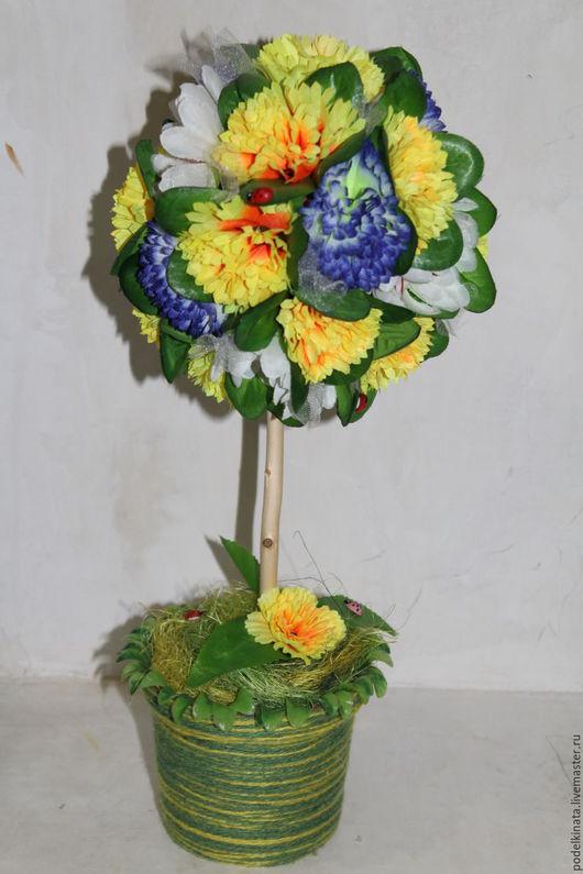 """Топиарии ручной работы. Ярмарка Мастеров - ручная работа. Купить Топиарий """"Цветочное настроение """". Handmade. Разноцветный, декор для интерьера"""
