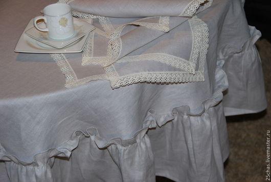 """Текстиль, ковры ручной работы. Ярмарка Мастеров - ручная работа. Купить Комплект столовый """"Nature"""" из льна. Handmade. Серый, натуральность"""