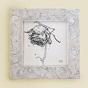Картины и панно handmade. Livemaster - original item Picture of a rose touched by autumn (framed handmade decor, interior decor). Handmade.