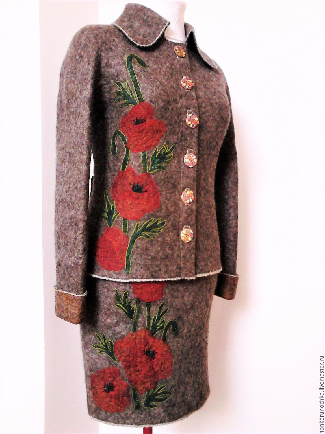 felted costume 'poppies', Suits, Yeisk,  Фото №1