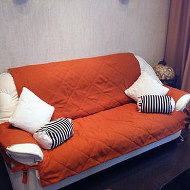Для дома и интерьера ручной работы. Ярмарка Мастеров - ручная работа Чехлы для стульев и дивана в оранжевом цвете. Handmade.