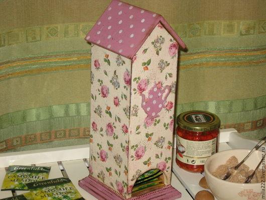 """Кухня ручной работы. Ярмарка Мастеров - ручная работа. Купить """"Бабушкин чай"""" чайный домик. Handmade. Брусничный, стиль прованс"""