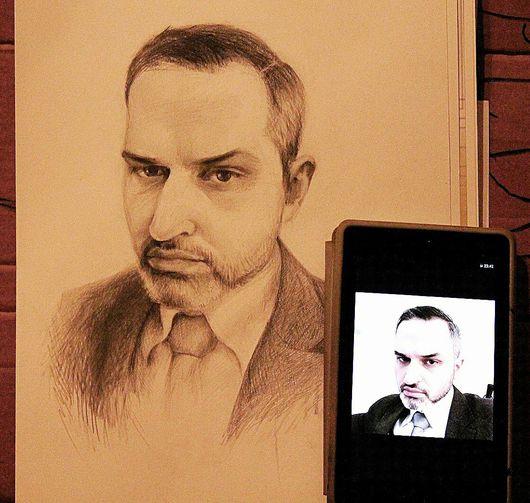 Люди, ручной работы. Ярмарка Мастеров - ручная работа. Купить Портрет карандашом. А3. Handmade. Портрет по фото, портрет по фотографии