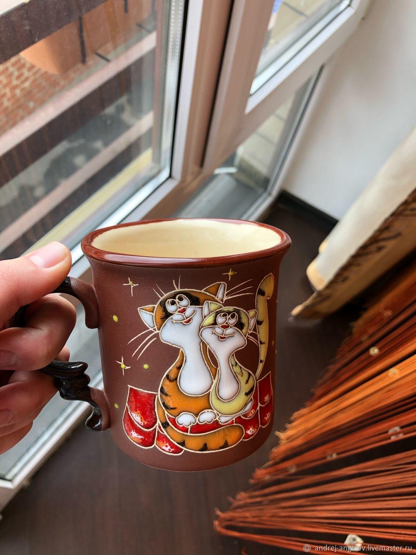 Керамическая кружка: Коты на крыше, Кружки и чашки, Краснодар,  Фото №1