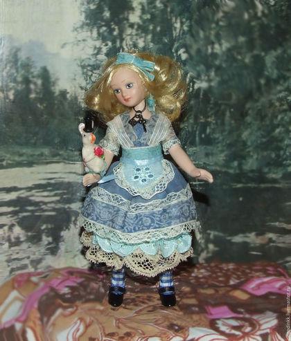 Коллекционные куклы ручной работы. Ярмарка Мастеров - ручная работа. Купить Алиса -авторский костюм, кукла. фарфор.. Handmade. шебби