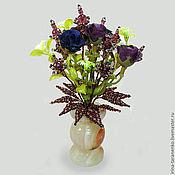 Цветы и флористика handmade. Livemaster - original item Flowers of the Topaz in a vase of onyx. Handmade.