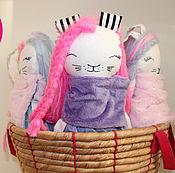 Мягкие игрушки ручной работы. Ярмарка Мастеров - ручная работа Зайка из Кюсю розовая. Handmade.