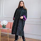 Одежда handmade. Livemaster - original item Coat made of Italian wool black melange. Handmade.