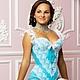 `Принцесса Виктория` - небесно-голубой корсет с белым кружевом. Эксклюзивное белье и корсеты от Mila Manina(Людмила Манина)