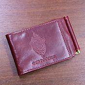 Канцелярские товары handmade. Livemaster - original item Cover for identity card clip for FSB money. Handmade.