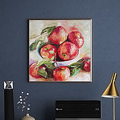 Картины и панно handmade. Livemaster - original item Apples in a vase, painting on canvas, still life with apples. Handmade.