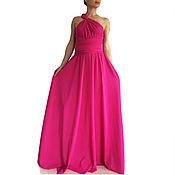 Одежда handmade. Livemaster - original item Long pate, Maxi Dress, Dress the bridesmaids, Transformer. Handmade.