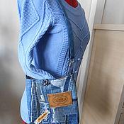 Сумки и аксессуары ручной работы. Ярмарка Мастеров - ручная работа Сумка малая  ,джинсовая. Handmade.