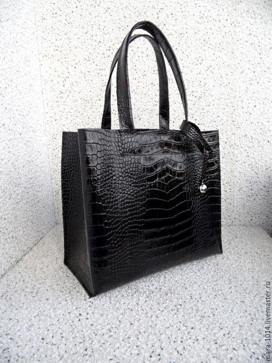 Женские сумки ручной работы. Ярмарка Мастеров - ручная работа. Купить СИТИ модификация для плеча. Handmade. Черный, Кожаная сумка