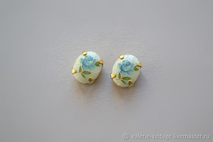 Vintage rhinestones 10h8mm. color Rose blue, Rhinestones, Moscow,  Фото №1