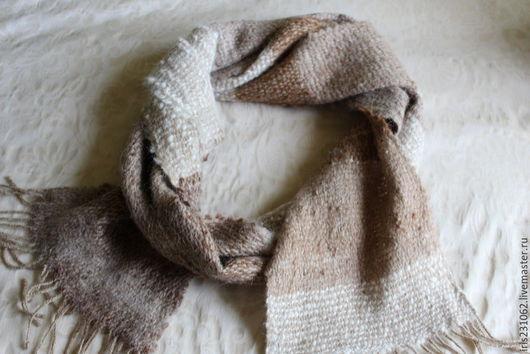 Шарфы и шарфики ручной работы. Ярмарка Мастеров - ручная работа. Купить шарф домотканый альпака. Handmade. Коричневый, шерсть