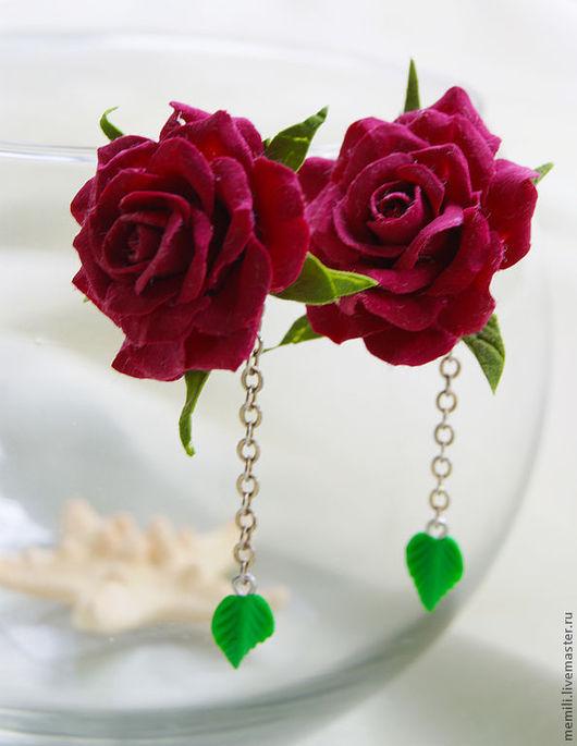 Комплекты украшений ручной работы. Ярмарка Мастеров - ручная работа. Купить Комплект Розы (кольцо+серьги). Handmade. Серьги-розы