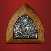 """Для дома и интерьера ручной работы. Ярмарка Мастеров - ручная работа Икона """"Ангел Хранитель"""" в киоте. Handmade."""