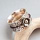 Кольца ручной работы. Ярмарка Мастеров - ручная работа. Купить Кольцо из серебра и золота Шелк. Handmade. Кольцо ручной работы