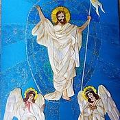 """Картины и панно ручной работы. Ярмарка Мастеров - ручная работа панно """"Воскресение Христа"""". Handmade."""