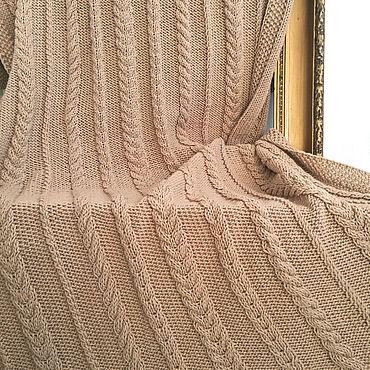 Текстиль ручной работы. Ярмарка Мастеров - ручная работа Пледы: вязаный плед 1,15 х 1,5м. Handmade.