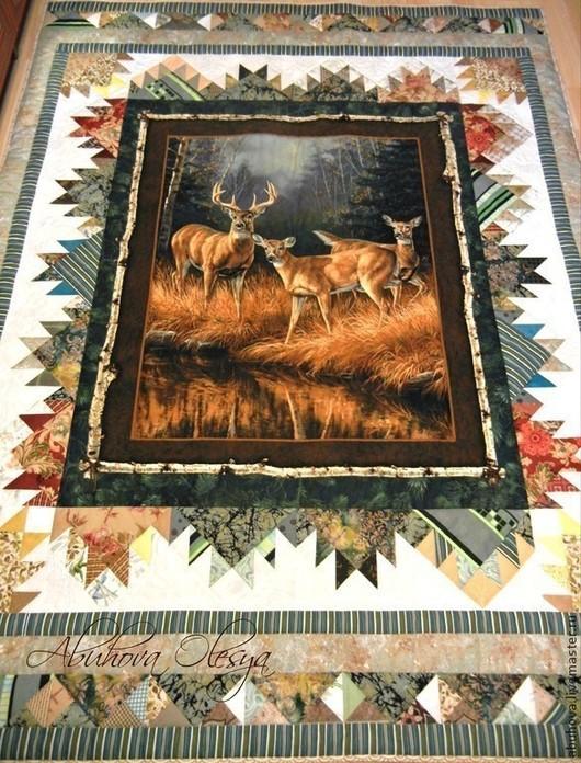 """Текстиль, ковры ручной работы. Ярмарка Мастеров - ручная работа. Купить Покрывало, одеяло """"Осенние краски"""".. Handmade. Покрывало"""