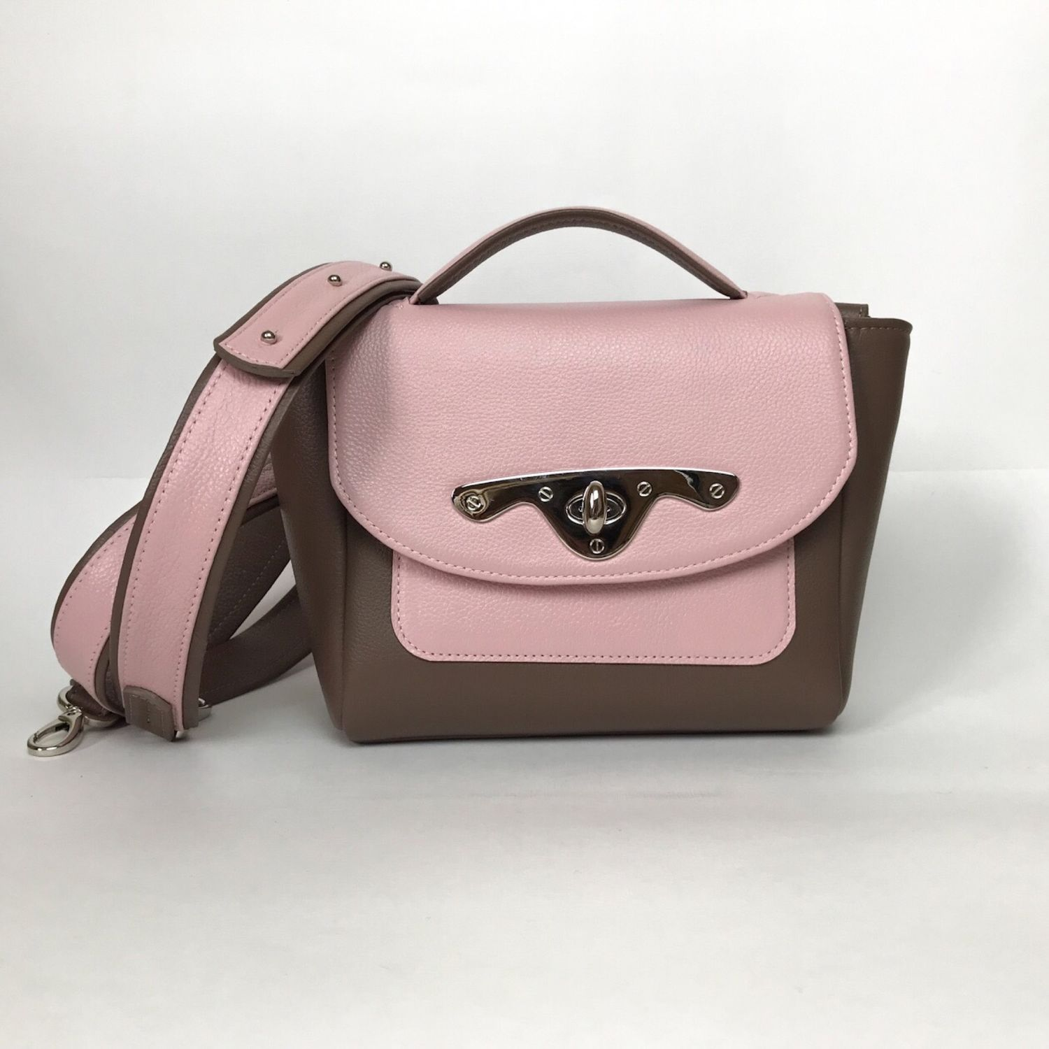 b2aa39884 Bag Handbags handmade. Bag of genuine leather cappuccino pink. MiTonA.  Online shopping on My ...