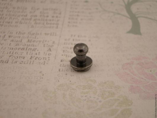 Другие виды рукоделия ручной работы. Ярмарка Мастеров - ручная работа. Купить Кабурная кнопка 813 блэк никель. Handmade.