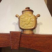 Посуда ручной работы. Ярмарка Мастеров - ручная работа Керамическая чайница Израсцовая. Handmade.