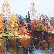 Картины и панно handmade. Livemaster - original item Oil painting landscape Autumn Oil on Canvas Impressionism. Handmade.