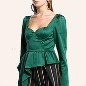 Блузки ручной работы. Ярмарка Мастеров - ручная работа Женская блузка. Женская блузка для работы. Блузка женская на вечеринку. Handmade.