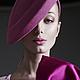 Шляпы ручной работы. Ярмарка Мастеров - ручная работа. Купить Шляпка из велюра розовая (for Lookbook Slava Zaitsev fw2014/15). Handmade.