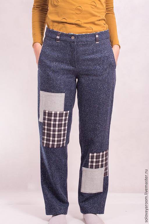 Брюки, шорты ручной работы. Ярмарка Мастеров - ручная работа. Купить Тёплые твидовые брюки с заплатками. Handmade. твидовые штаны