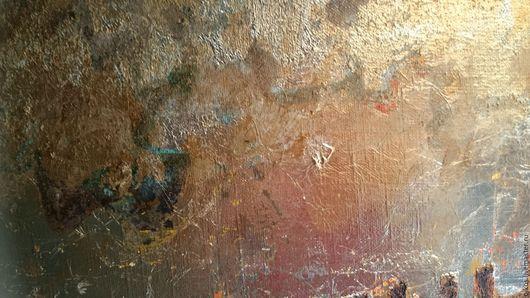 Декор поверхностей ручной работы. Ярмарка Мастеров - ручная работа. Купить Эффект ржавчины на стене текстурными штукатурками и поталью. Handmade.