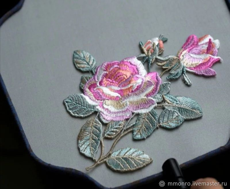 Fabulous roses, embroidery applique, Applications, Podolsk,  Фото №1