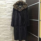 Одежда ручной работы. Ярмарка Мастеров - ручная работа Шуба норковая с соболем 58-62размер. Handmade.