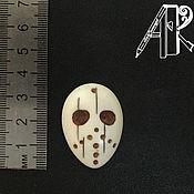 Аксессуары handmade. Livemaster - original item Keychain pendant mask Jason Voorhees Friday 13 bone carving. Handmade.