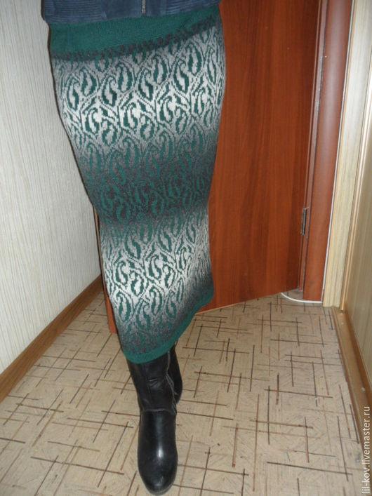 Юбки ручной работы. Ярмарка Мастеров - ручная работа. Купить юбка-перуанка жаккардовая. Handmade. Юбка, шерсть, теплая